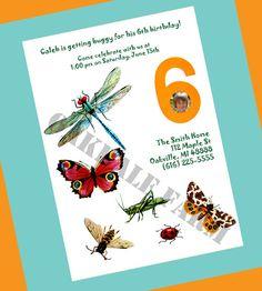 Bugs Birthday Invitation for Boy or Girl  Vintage by OakdaleFarm, $8.00