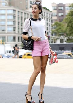 pretty in pink shorts