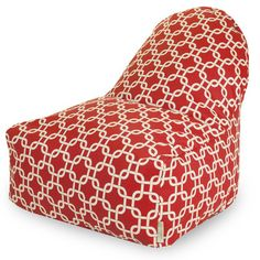 Links Bean Bag Chair Color: Red - http://delanico.com/bean-bag-chairs/links-bean-bag-chair-color-red-547137735/