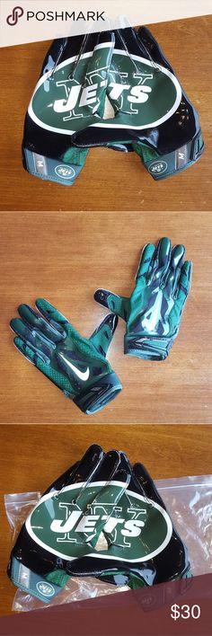 NIKE receiver gloves New Jets NFL reveiver gloves Nike Accessories Gloves