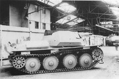 A Panzer 38(t) modified with a short barrled 75mm  KwK 37 L/24 gun for infantry support service (Sd.Kfz. 140/1)