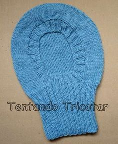 Tentando Tricotar: Receita do gorro da Aldina (Cagoule)