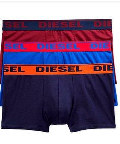 DIESEL fresh and bright boxer trunk stretch cotton 3 pack  NEW  #DIESEL #Trunk