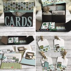 The coffee break suite from stampinup is perfect for the coffee lover! How To Make Scrapbook, Scrapbook Cards, Scrapbooking, Coffee Cards, Coffee Break, Iced Coffee, Morning Coffee, Beautiful Handmade Cards, Stamping Up Cards