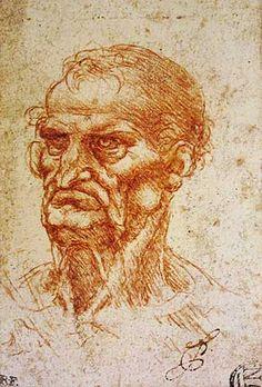 Leonardo Da Vinci Character Head of an Old Man, c.1505 Character Head of an Old Man, c.1505