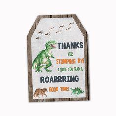 Dinosaur Favor Tags Dinosaur Thank you Tags Dinosaur Party