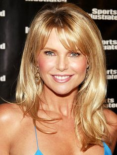 christie brinkley - love the bangs and layers