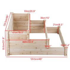 3 Tier Wooden Raised Elevated Garden Bed Planter Box Kit Flower Vegetable Outdoor Cedar Image 6 of 7 Tiered Planter, Tiered Garden, Wood Raised Garden Bed, Raised Beds, Raised Bed Garden Design, Cheap Raised Garden Beds, Elevated Garden Beds, Garden Bed Layout, Raised Patio