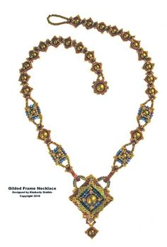 Gilded Frames Necklace by Kim Stathis