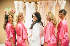 My beautiful bridesmaids sporting their pink kimono robes #perf