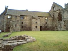Aberdour Castle is made up of a range of buildings dating from around 1200.
