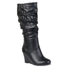 Women's Journee Collection Slouchy Wedge Boots