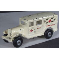Arcade Toy Co. Cast Iron Toy Ambulance. Excellent original condition. 6 inches long.