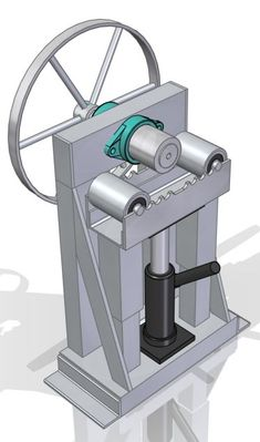 Need a flat bar ring roller plan? This roller will roll from large rings down to small rings. No need to disassemble the rollers to remove the rolled ring. Metal Bending Tools, Metal Working Tools, Metal Tools, Metal Art, Metal Welding, Welding Art, Welding Tips, Arc Welding, Welding Ideas