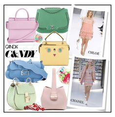 """""""CANDY BAGS!!!"""" by kskafida ❤ liked on Polyvore featuring Chanel, Fendi, Givenchy and Chloé"""