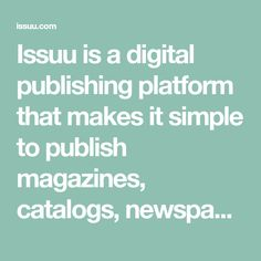 Issuu is a digital publishing platform that makes it simple to publish magazines, catalogs, newspapers, books, and more online. Easily share your publications and get them in front of Issuu's millions of monthly readers. Hiroshima, Regime Weight Watcher, High Frequency Words, Architecture Portfolio, Whittling, English Words, Make It Simple, Alcohol, Author