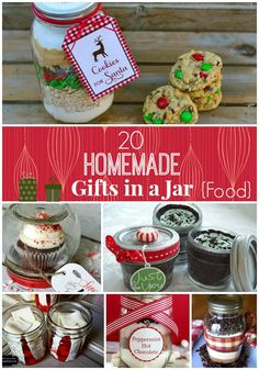 20 Best Mason Jar Gifts - Just add pink for Valentine's Day Gifts! #DIY #Gifts #ValentinesDay
