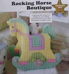 Plastic Canvas Tissue Box Patterns | Rocking Horse Boutique Tissue Box Cover Plastic Canvas Pattern