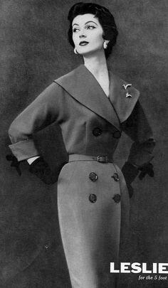 1953 slim rayon-acetate dress by Leslie Fay