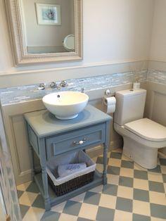 Topcer light blue and white tiles. Interior, Tiles, Interior Inspiration, White Tiles, Ensuite Bathroom, Home Renovation, Bathroom Interior, Bathroom, Inspiration