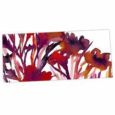 """Ebi Emporium """"Pocket Full Of Posies Red"""" Maroon Purple Desk Mat"""