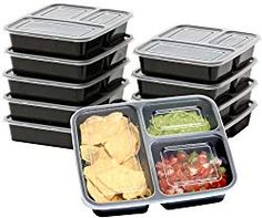 10 Pack - SimpleHouseware 3 Compartment Food Grade Meal Prep Storage Container Boxes ounces) *** Read more at the image link. (This is an affiliate link) Best Meal Prep Containers, Lunch Containers, Food Storage Containers, Meal Prep Lunch Box, Bento Box Lunch, Easy Meal Prep, 3 Compartment Food Containers, Keto Lunch Ideas, Lunch Recipes