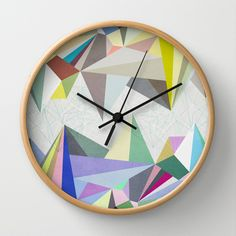 Colorflash+4+Wall+Clock+by+Mareike+Böhmer+Graphics+-+$30.00