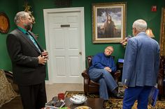 Day 2 - Pastor Jim, Mark Biltz, and Philip Cameron having a light discussion before the show. #BehindTheScenes