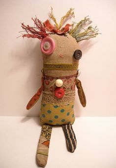 Monster Ragdoll Edvige | Art Doll by Junker Jane