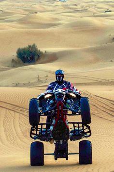 Duning around Dubai on a sand buggy is an unforgettable experience. Atv Quad, Quad Bike, Atv Riding, Davidson Bike, Power Wheels, Four Wheelers, Dirtbikes, Bike Life, Motocross