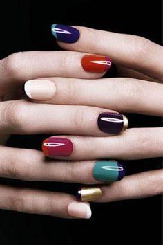 Uñas francesas con color