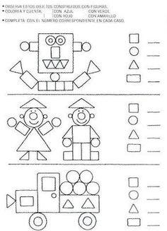 attribute block patterns for kindergarten Kindergarten Worksheets, Math Classroom, Teaching Math, Learning Activities, Preschool Activities, Kids Learning, Shape Activities, 1st Grade Math, Math For Kids