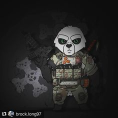 """318 Gostos, 10 Comentários - @hiwez no Instagram: """"Check out this mean Teddy Templar panda ordered by @brock.long97! ... Hopefully there are Teddy…"""""""