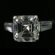1920s Asscher-Cut Diamond Ring