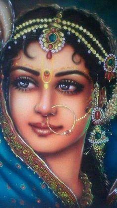 Oil painting - the living art! Radha Krishna Pictures, Radha Krishna Photo, Radha Krishna Love, Radhe Krishna, Baby Krishna, Indian Women Painting, Indian Art Paintings, Indian Artist, Krishna Drawing