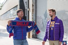 Guys can show their Buffalo Bills pride in a team scarf or down jacket all winter long.