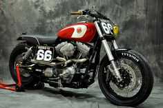 Meet Gabrielle, a Harley Dyna custom with a street tracker attitude. - Bike EXIF                                                                                                                                                                                 More