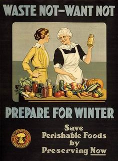 Food Storage was a normal and common activity back when society was living within its means.  And we are now welcoming back the days of old!