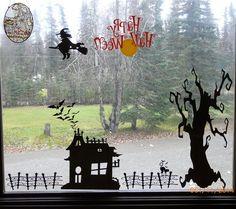 Project Center - Halloween Window Scene
