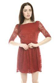 Surplice Back Lace Dress