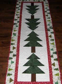 Christmas Quilted Table Runner Table Runner Christmas Quilt