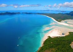 Whitehaven Beach is a 7 km stretch along Whitsunday Island. The island is accessible by boat from the mainland tourist ports of Airlie Beach and. Cruise Destinations, Romantic Destinations, Romantic Places, Vacation Places, Vacation Spots, Places To Travel, Beaches In The World, Places Around The World, Oh The Places You'll Go