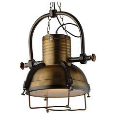 Zwis sufitowy 1pł BONN P01178BR Cosmo Light  Znakomita lampa w stylu LOFT i INDUSTRIAL.
