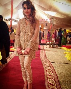 """Arsh stuns in @arfahofficial pearl and crystal embellished short jacket at a wedding tonight #couture #trending #bling #pearls #crystals #intricatedetails…"""