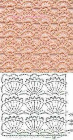 Watch This Video Beauteous Finished Make Crochet Look Like Knitting (the Waistcoat Stitch) Ideas. Amazing Make Crochet Look Like Knitting (the Waistcoat Stitch) Ideas. Crochet Motifs, Crochet Borders, Crochet Stitches Patterns, Crochet Chart, Crochet Designs, Crochet Lace, Stitch Patterns, Knitting Patterns, Crochet Flower