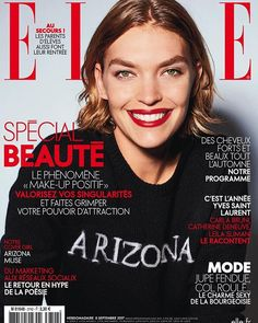 #ELLEenKiosque Cette semaine on décrypte les nouveautés make-up et bien-être de la rentrée . Et cest la belle @arizona_muse qui nous montre la voie ! #ellemagazine #covergirl #arizonamuse  @lizcollinsphotographer  via ELLE FRANCE MAGAZINE OFFICIAL INSTAGRAM - Fashion Campaigns  Haute Couture  Advertising  Editorial Photography  Magazine Cover Designs  Supermodels  Runway Models