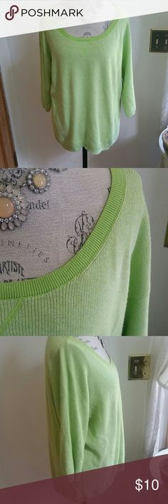 Green Aeropostale Sweater Light green sweater from Aeropostale that has been work several times (can be seen under the arms with slight piling). In great condition.   ~ Mannequin is a size Medium  ~ Comes from a smoke free home  ~ Comes from a home with animals  ~ Fits true to size  ~ All bundles come with a free gift Aeropostale Sweaters Crew & Scoop Necks