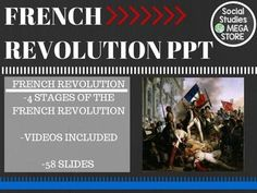 French Revolution World History PowerPoint Explaining 4 Stages of RevolutionTHE FIRST SEMESTER OF WORLD HISTORY THE WHOLE YEAR OF WORLD HISTORY The French Revolution is one of the more difficult things to teach. I  decided to divide the French Revolution into 4 parts as the students take Cornell notes.
