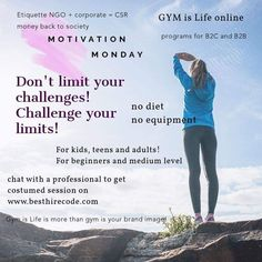 Online Personal Trainer, Life Online, Diet Challenge, Easy Workouts, Etiquette, Challenges, How To Get, Exercise, Gym
