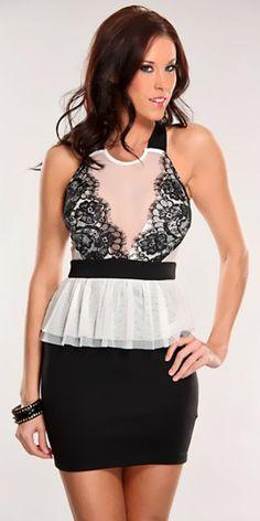 ad3f94f14 Vestido Peplum MotuFashion. Compra vestidos con los mejores precios en  nuestra sección de vestidos baratos